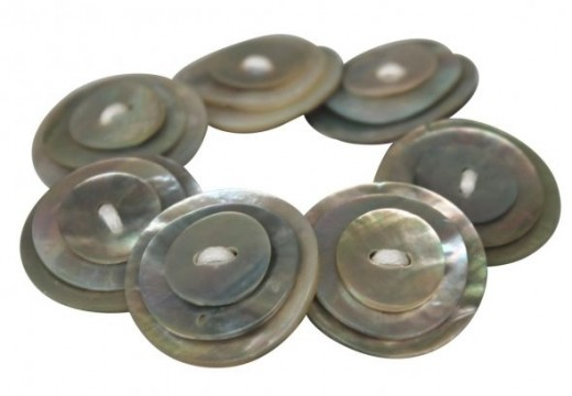 Button bracelets made from shell buttons