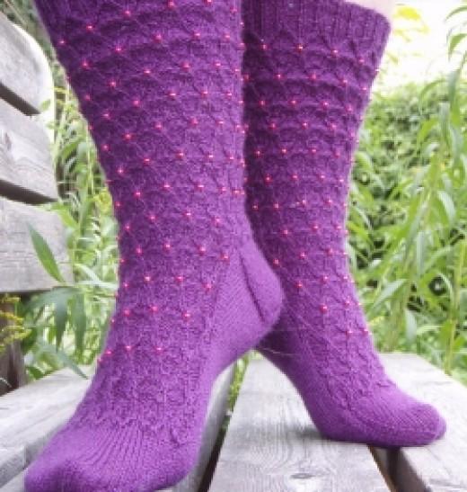 Twinkling Trellis Socks