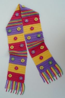 Child's X's and O's Scarf