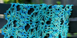 Peacock Track Scarf