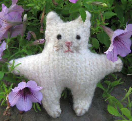Felted Amigurumi Cat