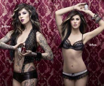 Kat Von D - Before & After