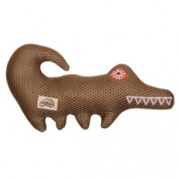 The Vibram Gator is not only super cute, he's a favorite amongst dogs who love to chew soft dog toys. Why? Because he won't be torn to pieces anywhere near as easily as a regular stuffed toy! And...there's a hidden squeaker inside too! Retail price: