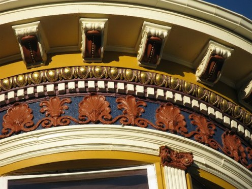 Victorian detail of 155 Cole Street at Hayes, San Francisco, California