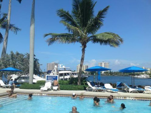 The swimming Pool at the Boca Resort