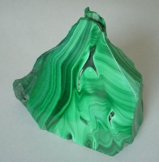Green, Swirly Malachite!