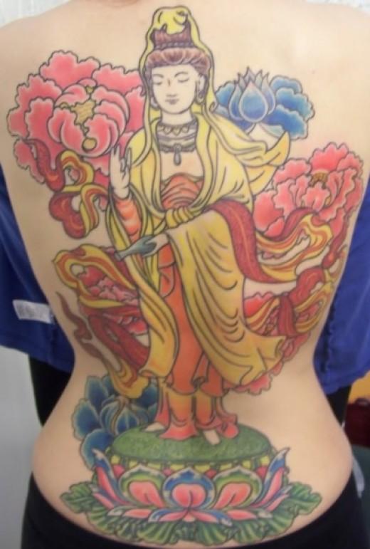 Quan Yin Backpiece