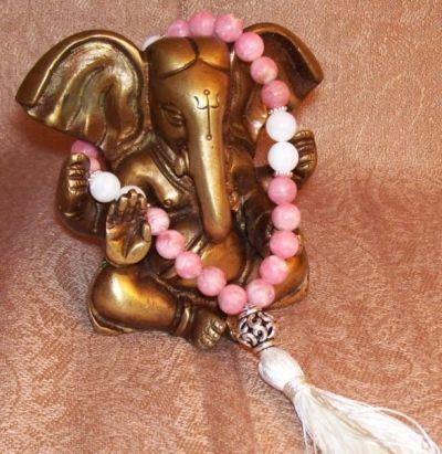 Rhodochrosite Mala - Heart Chakra Healing