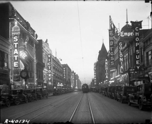Denver's Great White Way, 1927