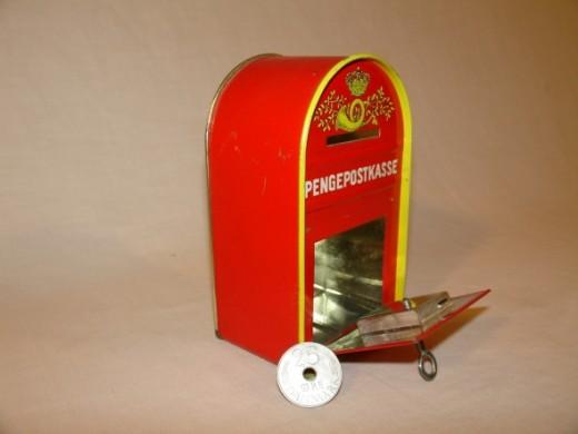 Vintage Danish Tin Child's Bank