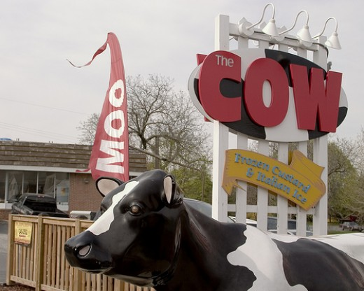 #50 Going to your Favorite Ice Cream Stand. Our's is called: The Cow