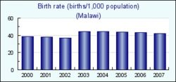 Malawi Birth Rate