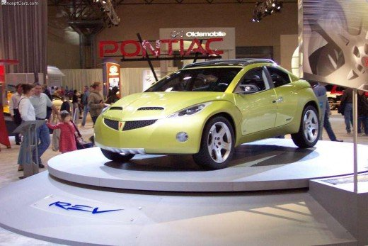 The Pontiac REV concept car (production model was the G6, which carried around 10% of the original look)