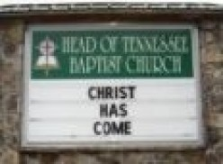 Putting Scripture on church signs