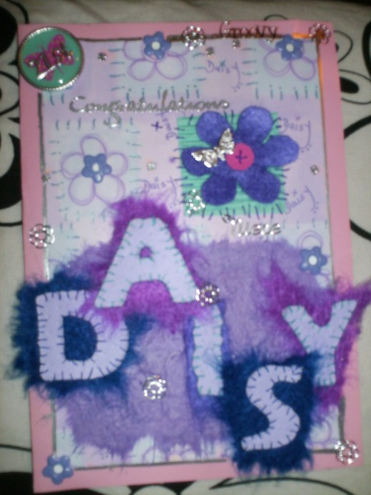 Another card which i made for my Neice Daisy's 21st birthday.