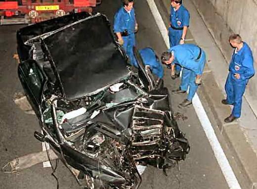 images of princess diana death photos. Princess Diana Death Car On