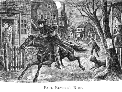 even Paul Revere had help behind the scenes...