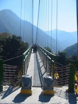 A bridge near our Hotel in Nantaou province