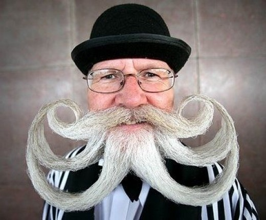 You'd think this was a one-of-a-kind beard design...