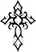 Not quite celtic knots but it is a tribal cross!