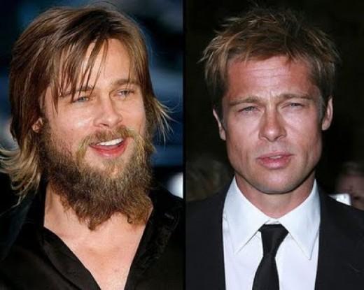Brad Pitt looks like the caveman commercial!