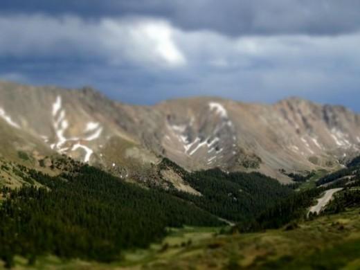 Tilt-Shift of Loveland Pass (Continental Divided) in Colorado