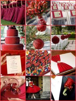 red wedding color scheme