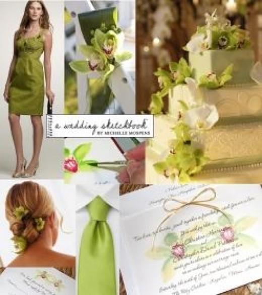 Green Wedding Color Scheme