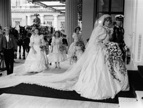This dress was highly copied at the time of Diana's wedding in 1981.