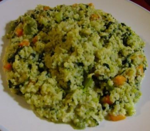 Bulgur Wheat Risotto with Philly