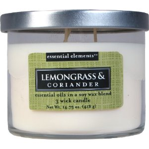 Lemongrass and Coriander Soy Wax Candle