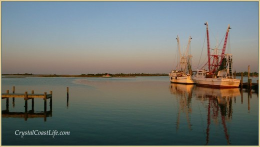 Shrimp boats at Clyde Phillips