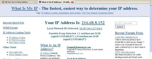 Figure 02 - Display the WAN IP Address