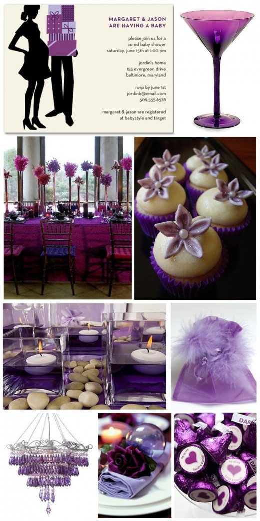 purple baby shower decorations best baby decoration