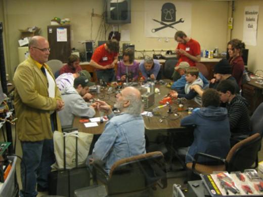 Makerspace soldering class