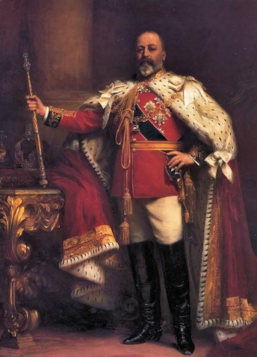 King Edward VII - ruled from 1901 to 1910  (public domain photo from Wikipedia  http://en.wikipedia.org/wiki/List_of_British_monarchs)