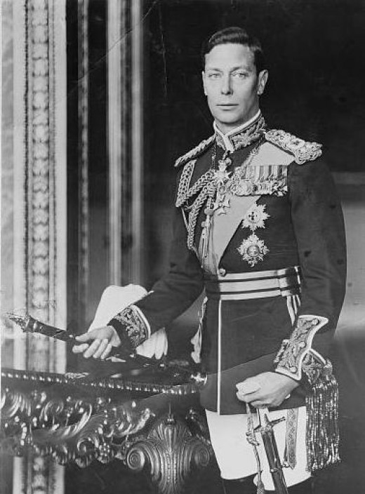 King George VI - ruled from 1936 to 1952   (Public Domain photo from U.S. Library of Congress Prints and Photographs Division under the digital ID matpc.14736)