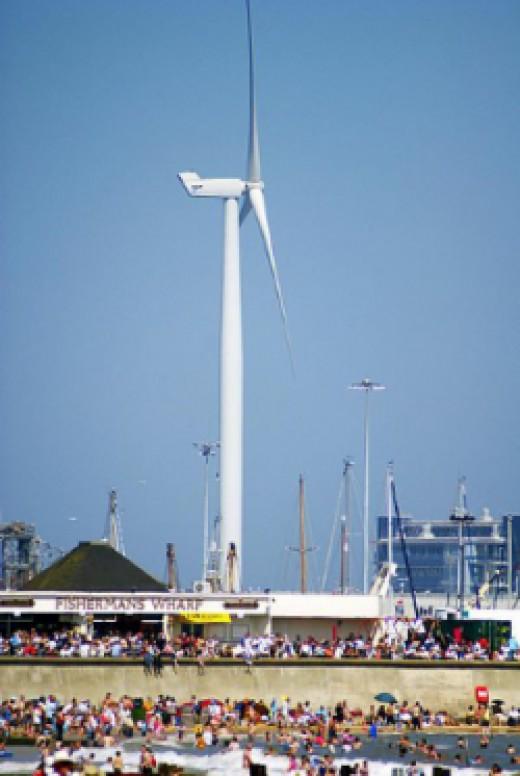 Wind turbine CC-BY-2.0 by Martin Pettitt (wikimedia commons)