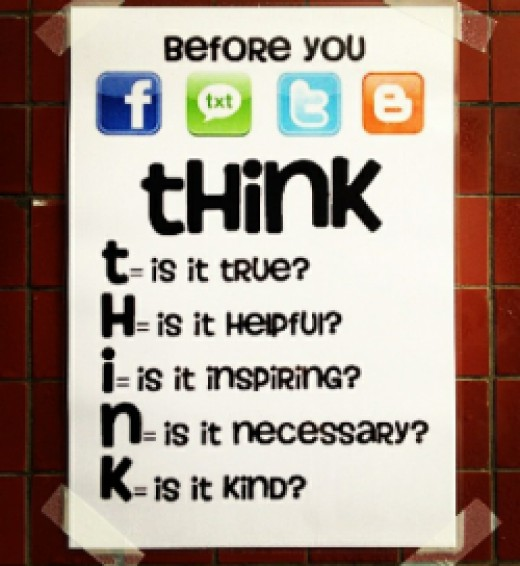 THINK before you... CC BY 2.0 By ToGa Wanderings