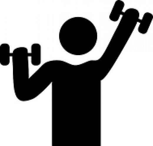 Men and women alike can use weights in their exercise plan to strengthen muscles.
