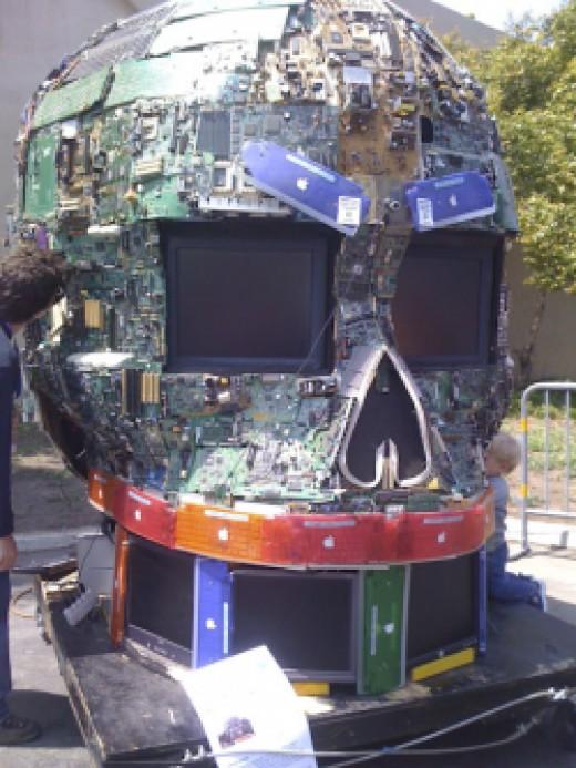 Electronics sculpture
