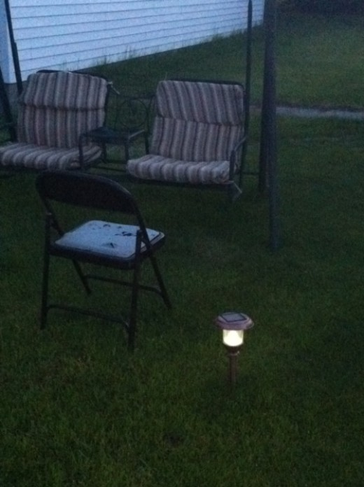 Outdoor solar lights make great decorations!
