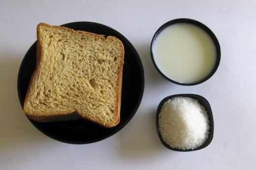 Ingredients for Shahi Tukda