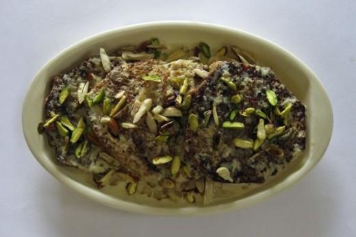 Indian Dessert - Shahi Tukda
