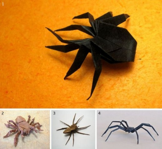 Halloween Origami Spider