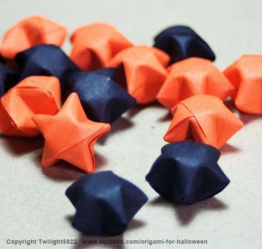 Halloween Origami Stars