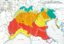 The linguistic unity of Northern Italy and Rhaetia