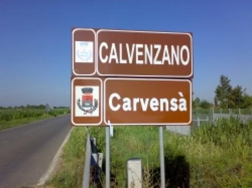 Bilingual road sign in Carvensà