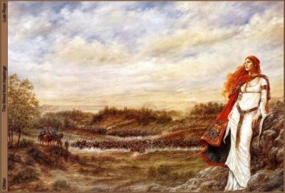 A beautiful red haired Celtic Woman