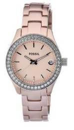 Fossil Women's ES2976 Quartz Rose Dial Aluminum Watch